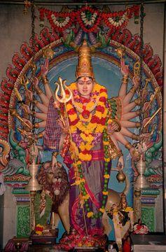 Bohyně Kálí v hinduistickém chrámu