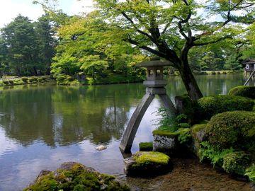 Lucerna Kotodži tóró, symbol zahrady Kenrokuen a Kanazawy