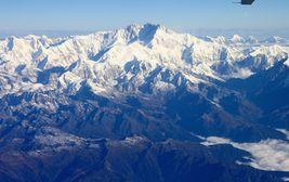 Pohled z letadla na Kančendžengu