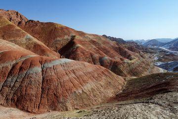 Duhové hory u města Zhangye