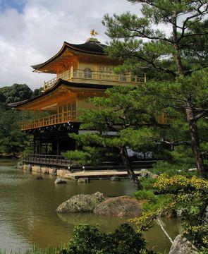 Kinkakudži (Zlatý pavilón) v Kjótu