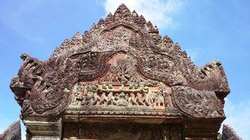 Jemný reliéf - areál Preah Vihear