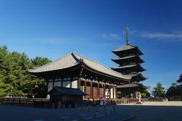 Nara – chrám Kófukudži, 2. nejvyšší pagoda v Japonsku