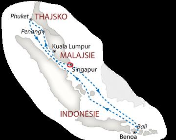 Lodí do Singapuru 2018 bílá_mapa