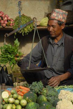 Na tržišti - městečko Bhakthapur