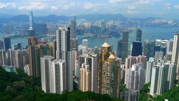 Panorama Hongkongu z Victoria Peaku