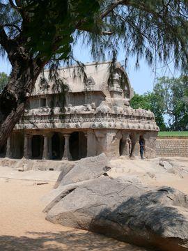 Mahábalípuram - pallávský chrám