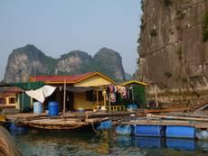 Rybářské vesnice na vodě