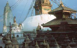 Káthmándú - buddhistická svatyně Svajambhunáth