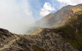 Kráter Kawah Ijen, východní Jáva