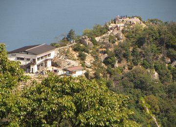 Výhled z vrcholku hory Misen