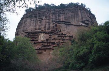 Buddhistické jeskyně Maijishan