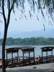 Hangzhou - loďky na Západním jezeře
