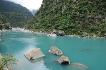 Tyrkysová voda soutěsky Taroko