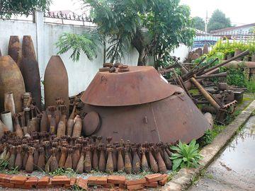 Munice z Tajné války, Národní muzeum, Vientiane
