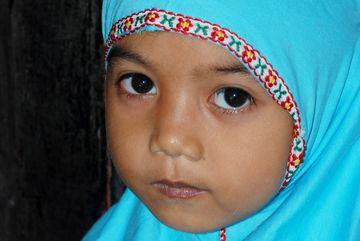 Muslimská dívka ve škole