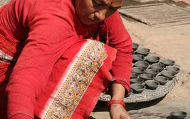 Hrnčířka v Bhaktapuru