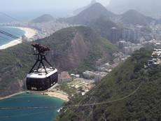 Rio de Janeiro - lanovka na Cukrovou homoli