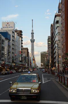 Asakusa s věží Sky Tree