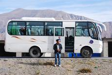 Mikrobus v Tibetu