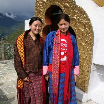Bhútánské dívky