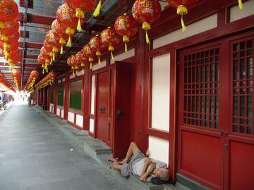 Únava u čínského chrámu