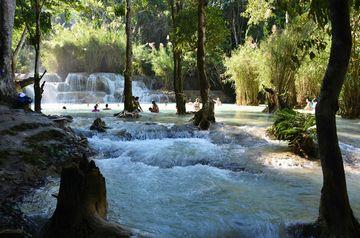 Vodopády Kuang Si u Luang Phrabangu
