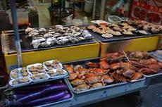 Skvělé mořské plody v Xiamenu
