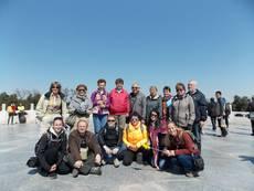 Skupina v areálu chrámu Nebes
