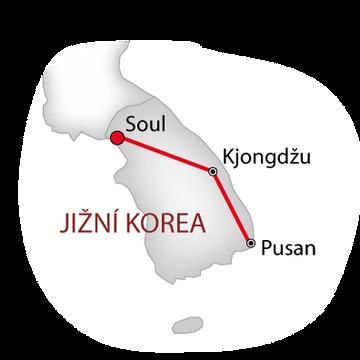 Jižní Korea nejen pro gurmány bílá_mapa
