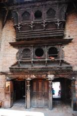 Dřevořezba v Bhaktapuru