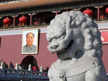 Císařský drak před Zakázaným městem, Peking