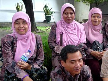 Muslimské ženy z Yogyakarty