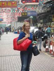 Autorka článku v Číně