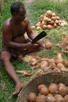 Tkaní kokosového provazu