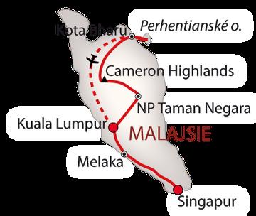 Singapur a Malajsie 2018 bílá_mapa