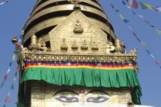Buddhovy oči na stúpě Svajambhunáth