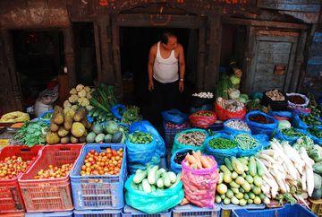 Nepál – prodejna zeleniny