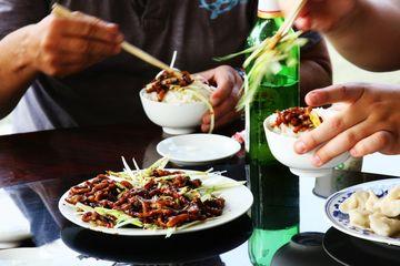 Peking - vepřové nudličky s pórkem