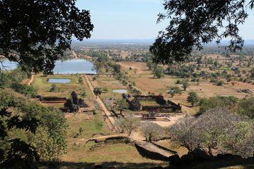 Pohled od Wat Phu