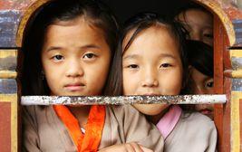 Bhútánské školačky