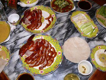 Naservírovaná pekingská kachna