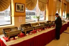 Bufetová snídaně v čínském hotelu